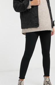 Topshop Maternity – Joni – Czarne jeansy zasłaniające brzuch o dopasowany kroju-Czarny
