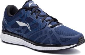 Niebieskie buty sportowe Li-Ning w sportowym stylu ze skóry ekologicznej