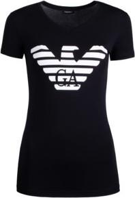 35938fcd382294 Czarny t-shirt Emporio Armani z krótkim rękawem