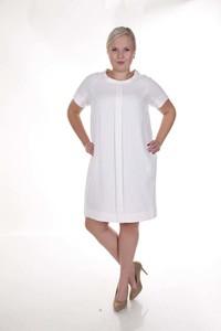 Sukienka Fokus midi z lnu z krótkim rękawem