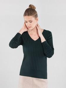 Zielona bluzka Ochnik z jedwabiu w stylu casual