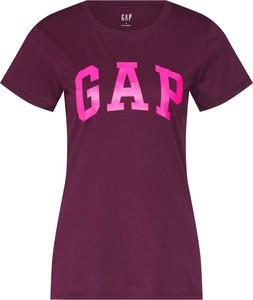 Czerwona bluzka Gap z krótkim rękawem