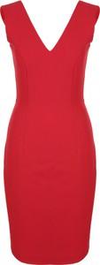 Czerwona sukienka Nife z dekoltem w kształcie litery v dopasowana