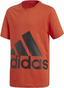 Pomarańczowa koszulka dziecięca Adidas Performance z krótkim rękawem