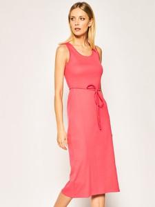 Sukienka Calvin Klein midi z okrągłym dekoltem