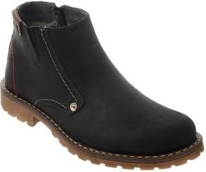 Czarne buty zimowe butyolivier.pl na zamek