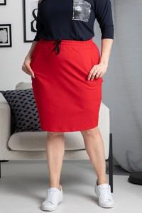 Czerwona spódnica KARKO z bawełny