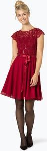 Sukienka Swing rozkloszowana z okrągłym dekoltem w stylu glamour