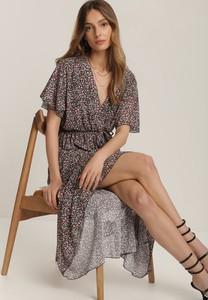 Sukienka Renee kopertowa midi z dekoltem w kształcie litery v