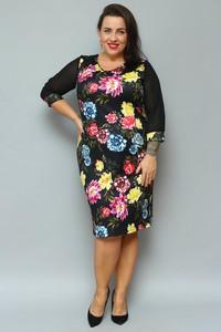 Sukienka KARKO z długim rękawem ołówkowa midi