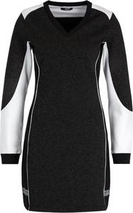 Czarna sukienka Liu Jo Sport dopasowana w stylu casual z długim rękawem
