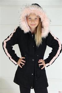 Czarna kurtka dziecięca e-lily.pl z dzianiny