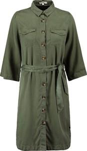 Zielona sukienka Garcia z długim rękawem