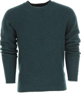 Zielony sweter Roberto Collina z wełny w stylu casual