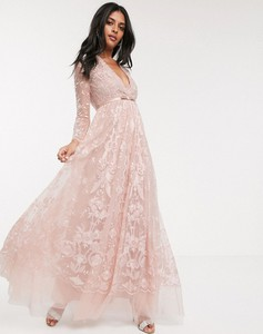 Różowa sukienka Needle & Thread