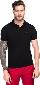 Czarna koszulka polo giacomo conti w stylu casual