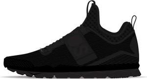 Czarne buty sportowe Domyos z płaską podeszwą w sportowym stylu