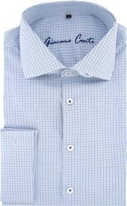 Niebieska koszula Giacomo Conti z długim rękawem w stylu casual