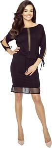 Sukienka Pawelczyk24.pl z okrągłym dekoltem mini ołówkowa