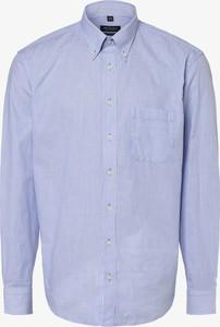 Niebieska koszula Mc Earl z bawełny z kołnierzykiem button down