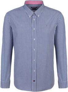 Niebieska koszula Tommy Hilfiger w stylu casual z kołnierzykiem button down z długim rękawem