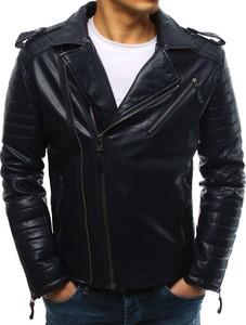 Czarna kurtka Dstreet ze skóry ekologicznej