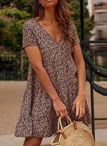 Sukienka Sandbella z krótkim rękawem w stylu boho mini