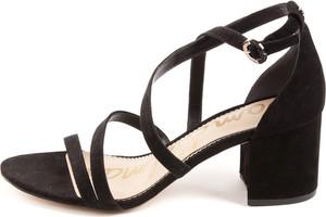 Czarne sandały Sam Edelman z klamrami na obcasie