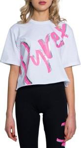 T-shirt Pyrex w młodzieżowym stylu z krótkim rękawem z okrągłym dekoltem