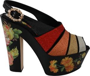 Sandały Dolce & Gabbana z klamrami ze skóry
