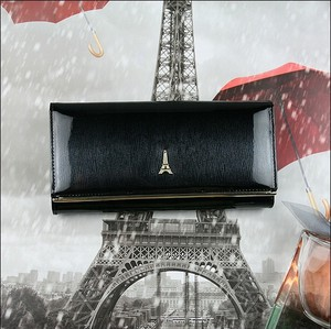 Czarny portfel Paris Design ze skóry
