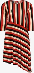 Sukienka Samoon w stylu casual z długim rękawem z okrągłym dekoltem