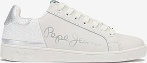 Buty sportowe Pepe Jeans w sportowym stylu ze skóry