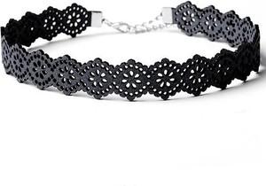 Fashion Jewellery Choker AŻUROWY - CZERŃ N318CZ