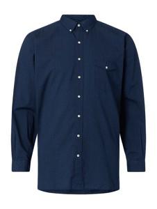 Granatowa koszula POLO RALPH LAUREN z kołnierzykiem button down z bawełny