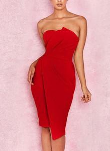 Sukienka Cikelly hiszpanka bez rękawów midi