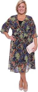 Sukienka modneduzerozmiary.pl z szyfonu w stylu casual