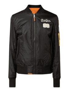 Czarna kurtka Top Gun w stylu casual