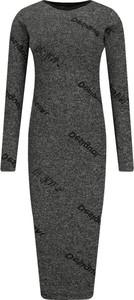 Sukienka Desigual dopasowana z długim rękawem