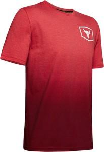 Czerwony t-shirt Under Armour z bawełny z nadrukiem