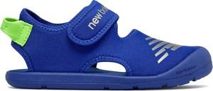 Niebieskie buty dziecięce letnie New Balance na rzepy