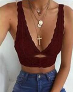 Bluzka Kendallme w stylu casual z dekoltem w kształcie litery v