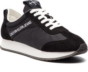 Buty sportowe Calvin Klein ze skóry ekologicznej
