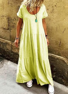 Sukienka Sandbella z krótkim rękawem maxi