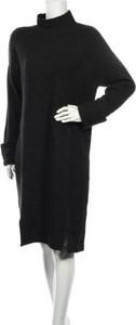 Czarna sukienka Grace Hill w stylu casual prosta midi
