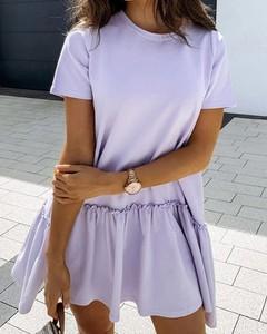 Sukienka Kendallme z krótkim rękawem mini z okrągłym dekoltem