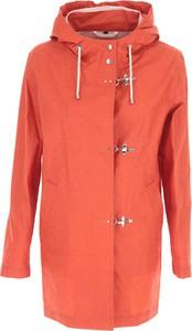 Pomarańczowa kurtka Fay długa z bawełny
