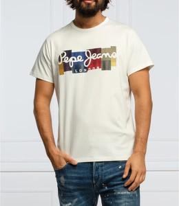 T-shirt Pepe Jeans z krótkim rękawem w młodzieżowym stylu z bawełny