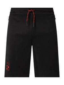 Czarne spodenki Hugo Boss z bawełny
