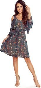 Sukienka NUMOCO z szyfonu z długim rękawem